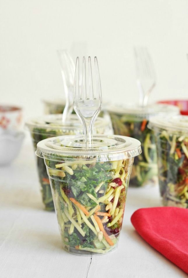 Use this make-ahead camping recipe to make Salads to Go.