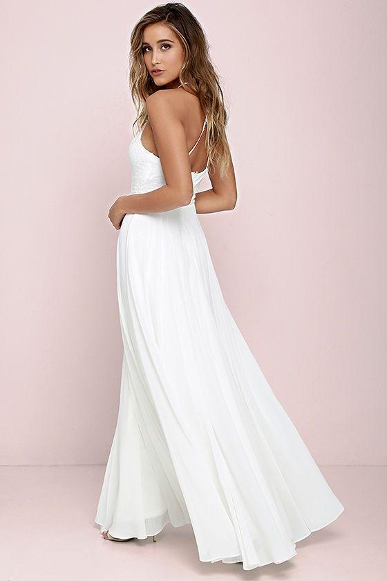 c8cd2b75cd Everlasting Enchantment Ivory Maxi Dress in 2019 | Hawaii style | Dresses,  Elegant maxi dress, Spaghetti strap wedding dress