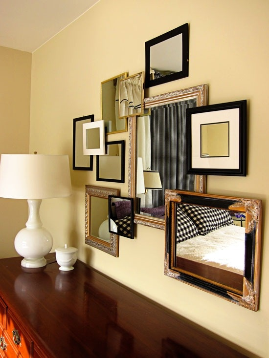 Famous Multi Mirror Wall Decor Adornment - Wall Art Collections ...