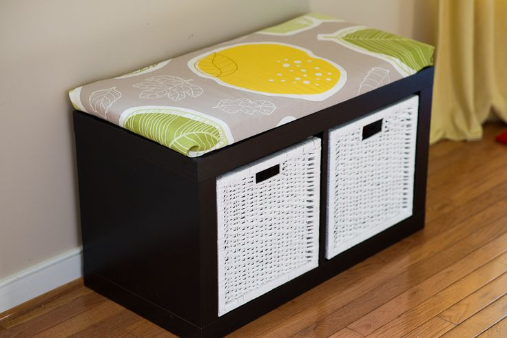 Big boy room window seat // PlaceOfMyTaste: sitting and storage bench { IKEA storage shelf unit }
