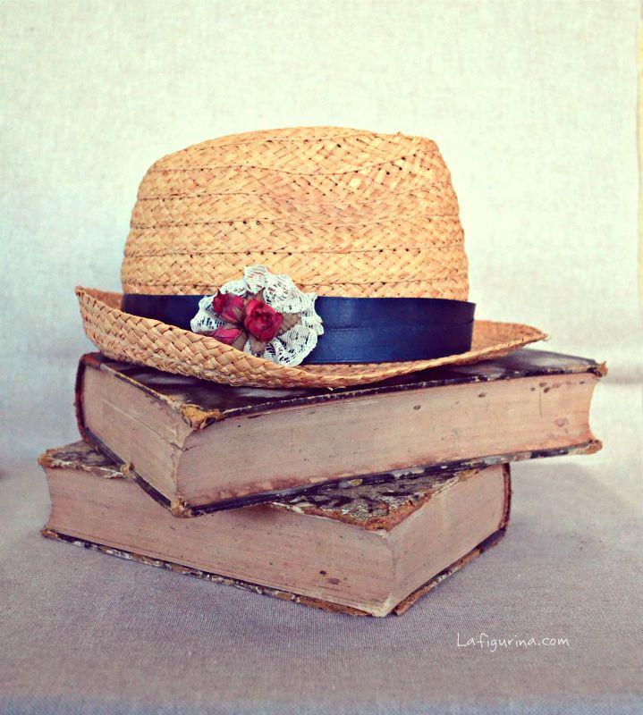http://www.lafigurina.com/2014/08/restyling-di-un-cappello-di-paglia/