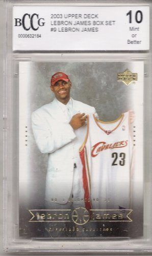 2003 Upper Deck Lebron James Box Set #9 Lebron James Rookie Card BCCG Graded 10MINT or BETTER . $24.99. Graded Lebron James Rookie Card, 10MINT or Better. Graded by Beckett Collectors Club Grading. In clear protective case.
