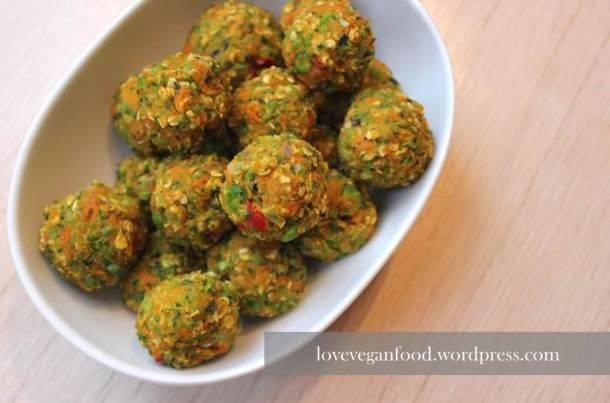 Bunte Gemüsebällchen | Love Vegan Food