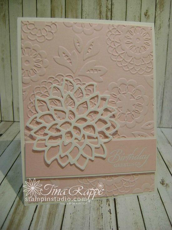 Stampin' Up! May Flower Framelits, Lovely Lace embossing Folder, Stampin' Studio