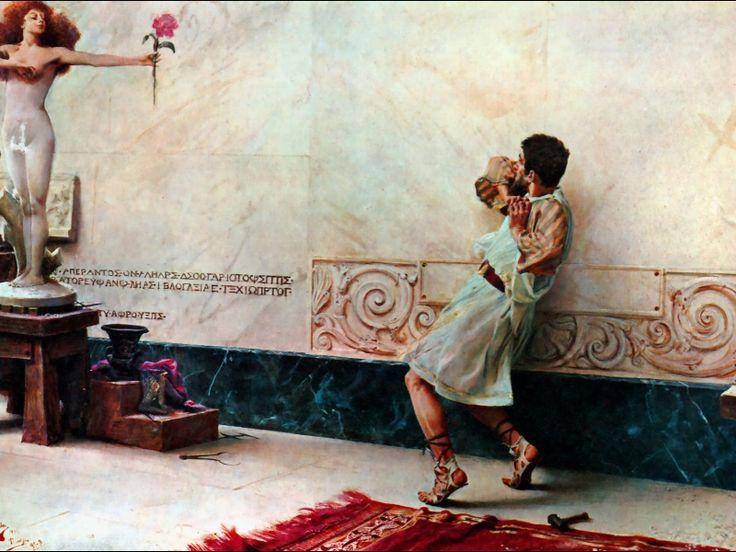 """Giulio Bargellini: """"Pygmalion and Galatea"""" 1896 Galleria Nazionale d'Arte Moderna, Rome"""