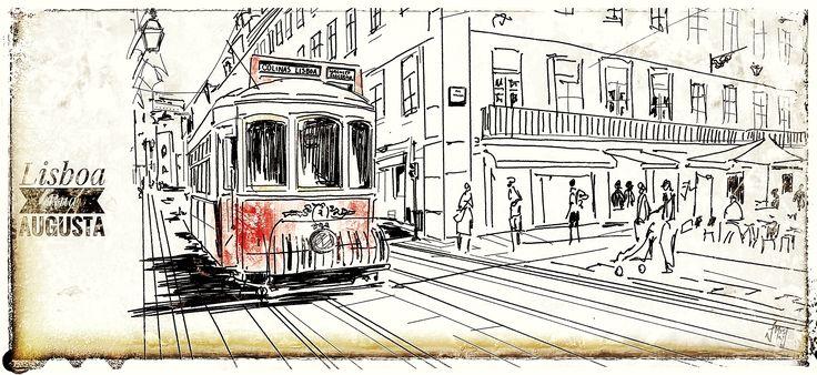Victor Melo ~ Sketch ~ Tram ~ Lisbon