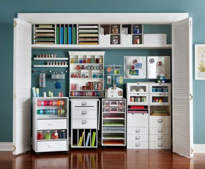 Mobile storage provides flexibility of your work space. Just roll it out when you have a project and it puts away to keep your space clean and organized.
