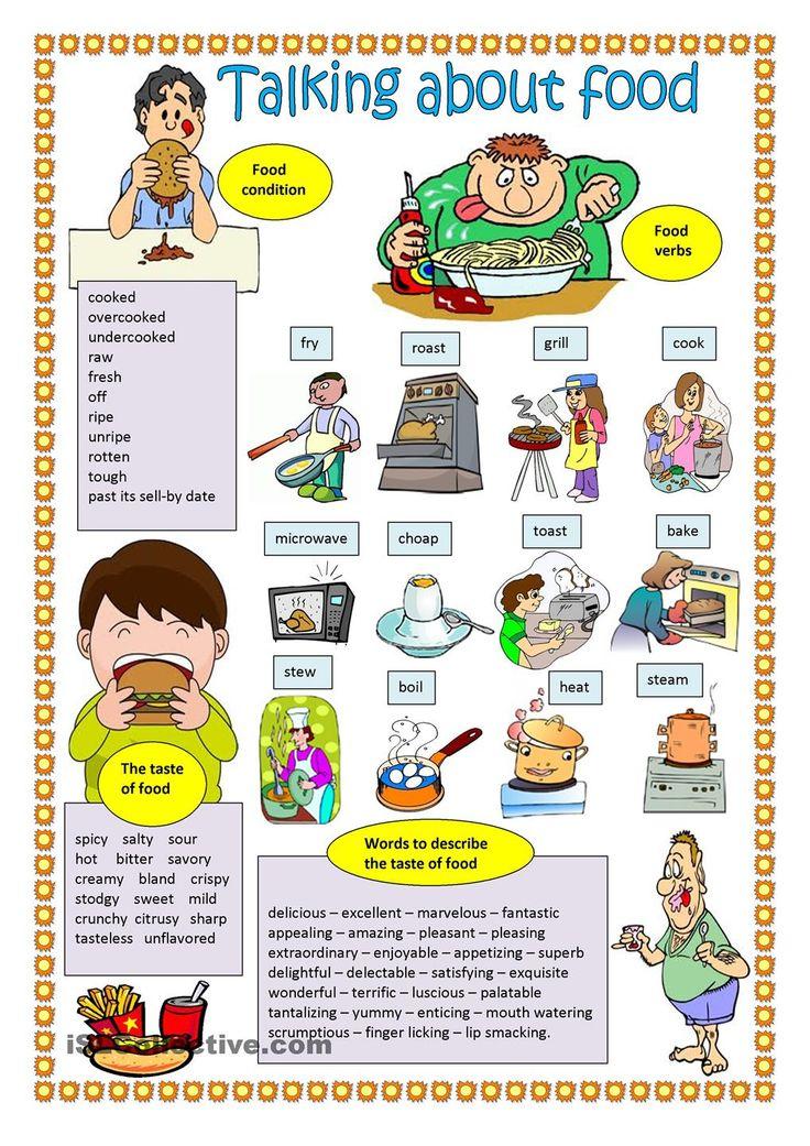Talking About Food FREE ESL Worksheets