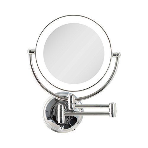 Zadro Cordless Dual Led Lighted Round Wall Mount Make Up Mirror With 1x Wall Mounted Mirror Mirror Personal Mirror