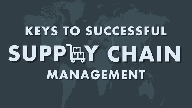 Keys to Successful Supply Chain Management- PowerPoint Presentation Cover Slide