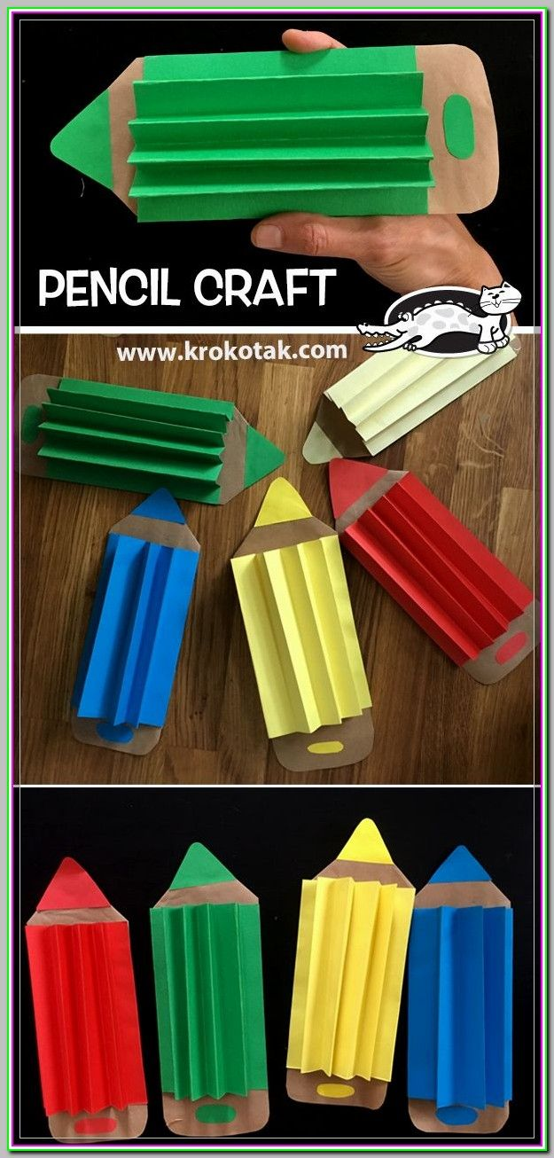 If You Are Talented In Creating Arts And Crafts Projects Begin Making Presents Instead Of Buying Them Pencil Crafts Preschool Crafts Craft Activities For Kids