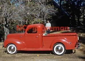 "1941 Ford 1/2 ton pickup truck NEW 5"" x 7"" photo from MAR 61-dated slide"