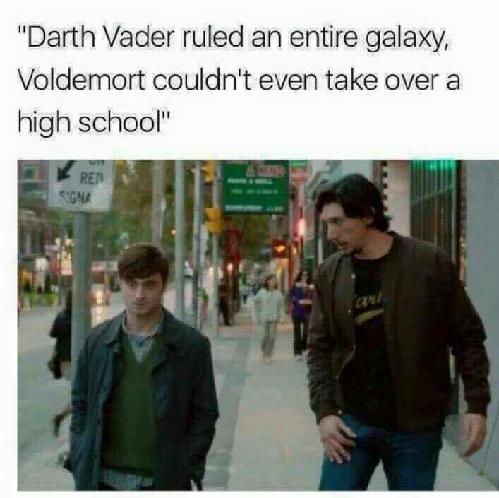 Star Wars Vs Harry Potter Star Wars Humor Star Wars Memes Star Wars Fandom