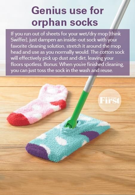 Socks as Swiffer pads