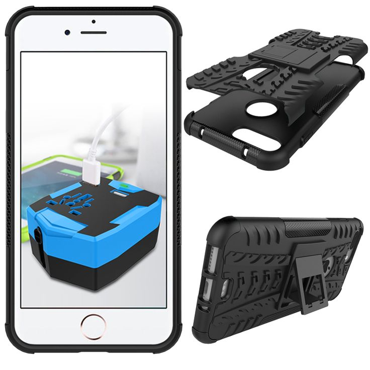 Sale 18% (3.99$) - Rugged Kickstand Shockproof Case For iPhone 7 Plus