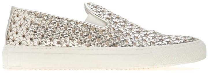 Rocco P. woven sneaker on shopstyle.co.uk #spring #summer #skateshoes #slipons #skate #sneakers #RoccoP #woven #metallic #silver