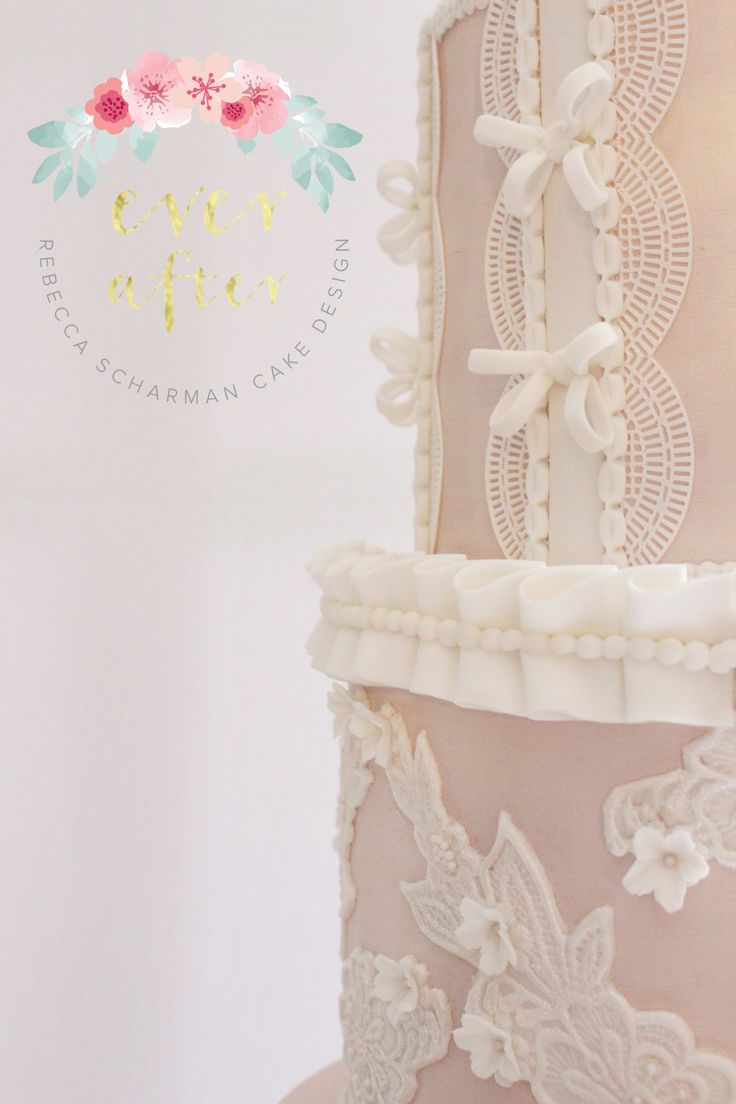 @everaftercake Close up details of the lace and pleating on my competition cake.