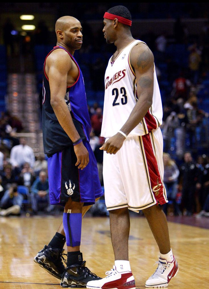 Vince And Bron Exchange Pleasantries, '04.