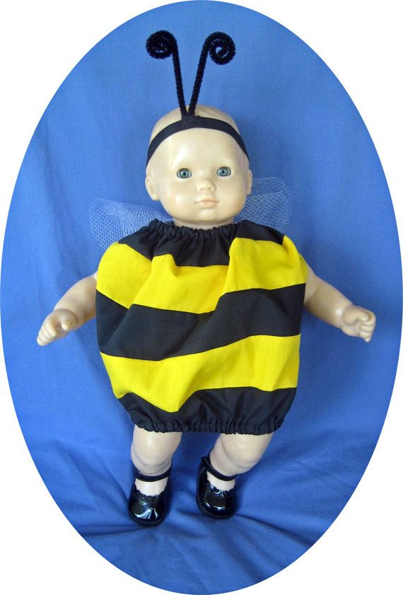 American Girl BITTY BABY doll clothes Bee by agirlandherdoll $12.00  sc 1 st  Pinterest & 43 best bitty costumes animal images on Pinterest | American girls ...