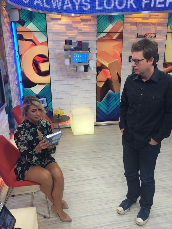 Twitter Co-Founder Biz Stone chats with booted DWTS dancer Emma Slater about his new book in our GMA Social Square!
