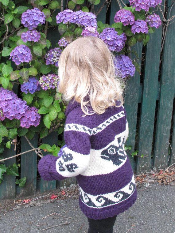 Medium Whale Cowichan Style Sweater by saintpierre on Etsy