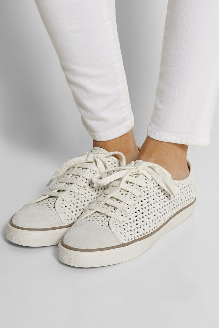 Tory Burch | Daisy Cutout leather sneakers