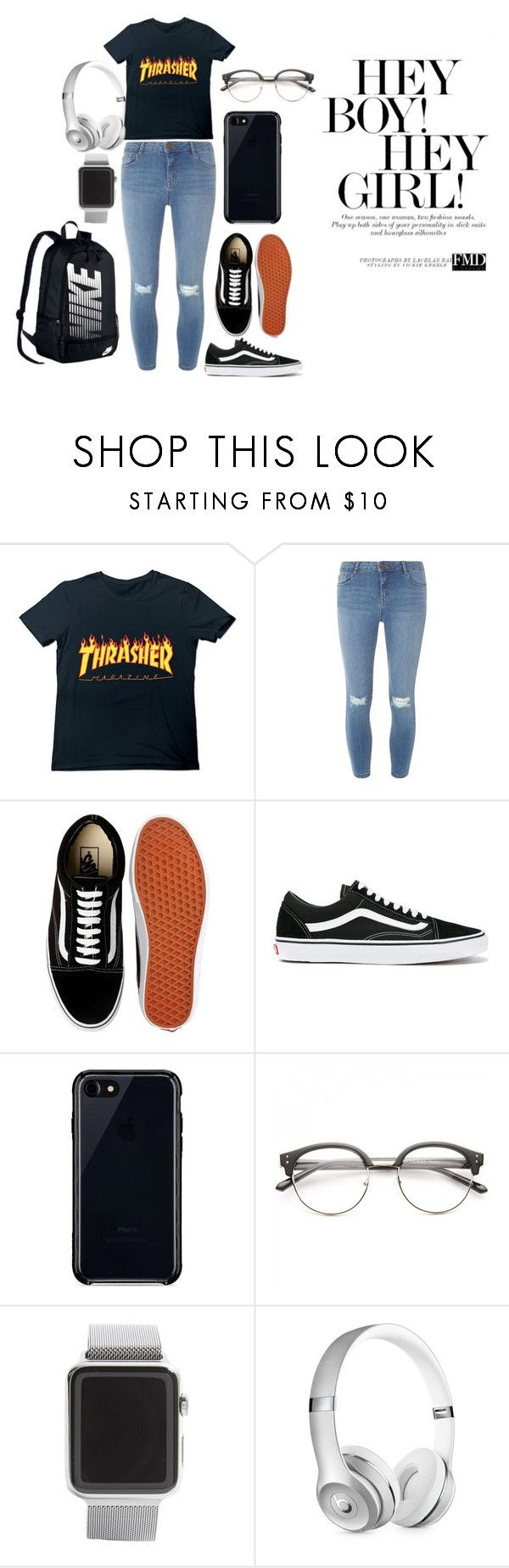 """""""Hey boy! Hey girl!"""" by momopris on Polyvore featuring Dorothy Perkins, Vans, Belkin, Apple, Beats by Dr. Dre and NIKE"""