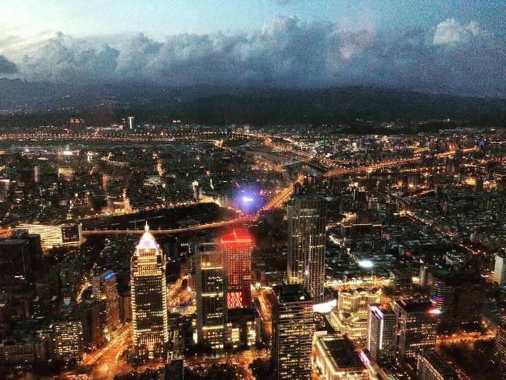 The night view of Taipei