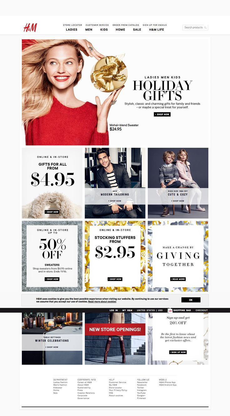 H&M holiday gifts HP