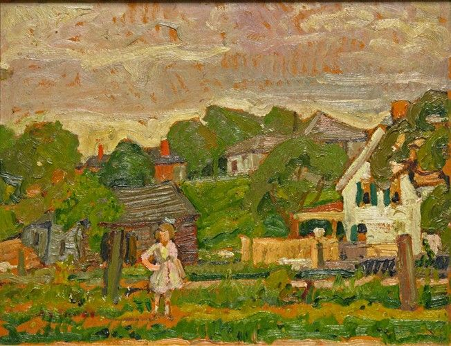 Arthur Lismer - Meadowvale Ontario 12 z 15.75 Oil on panel (1924)