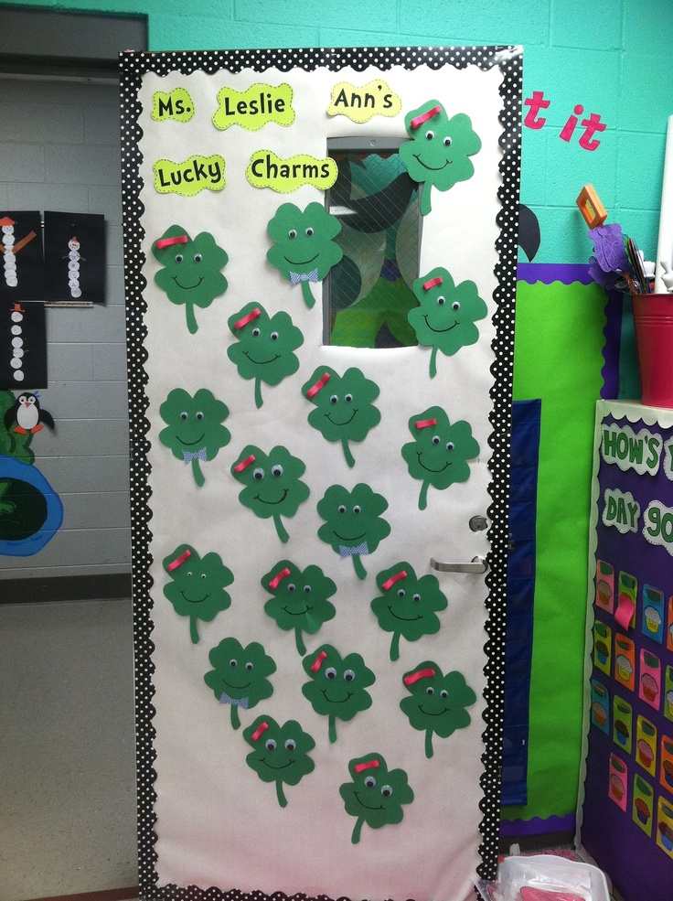 Classroom Door Decoration Ideas For March ~ Life in first grade st patricks day grades ideas