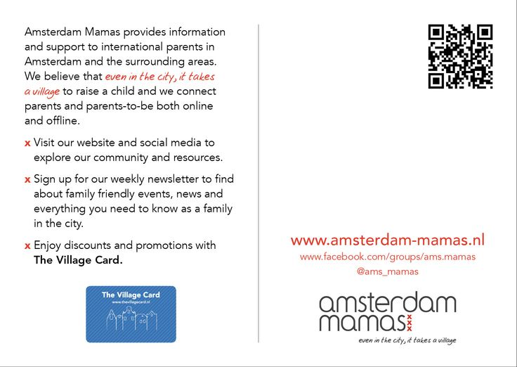 The Amsterdam Mamas - AM Postcard (back)