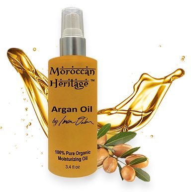 Moroccan Argan Oil. Argan oil is a true beauty and health elixir. Used with exceptional results for skin hydration and anti-aging treatments, Argan oil is often considered a natural youth fountain. This 100% natural essential anti-aging oil, erase signs of premature aging, reduce the depth of wrinkles, and restores skin's youthful elasticity.