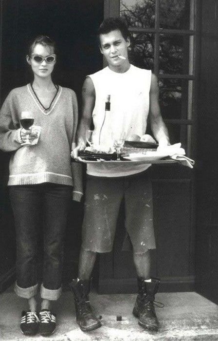 Kate Moss & Johnny Depp.  http://www.dazeddigital.com/fashion/article/18032/1/top-10-early-kate-moss-moments