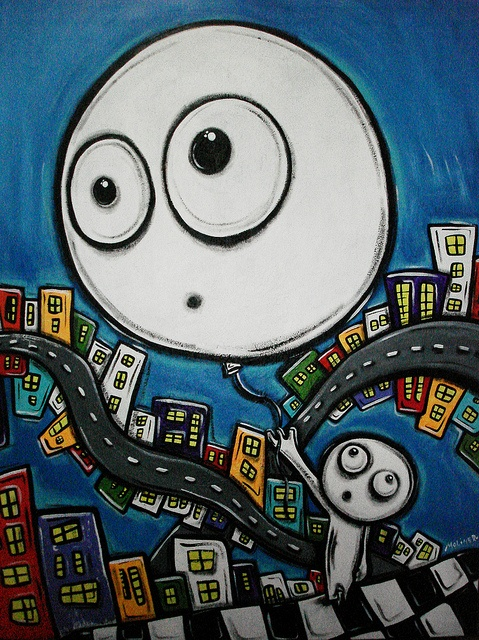 """""""Globo""""  acrylic on canvas  available"""