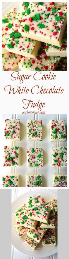1 1/4 cup Prepackaged sugar cookie mix. 2 12 oz bags White chocolate chip morsels. 1 14 oz can Milk, condensed sweetened. Sprinkles - optional but highly recommended.