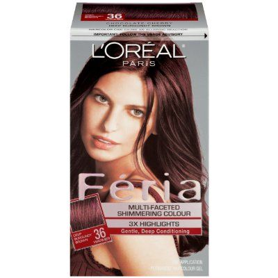 L Oreal Paris Feria 36 Dark Burgundy Brown Chocolate