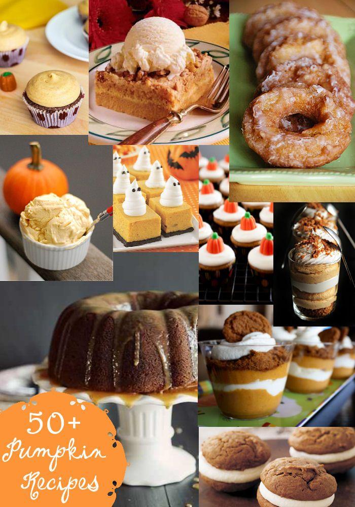 50+ Pumpkin Recipes - a must-keep list for fall! #pumpkin
