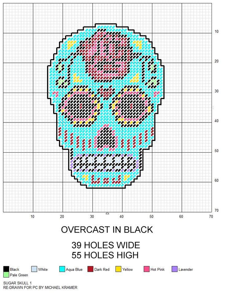 Sugar Skull plastic canvas pattern