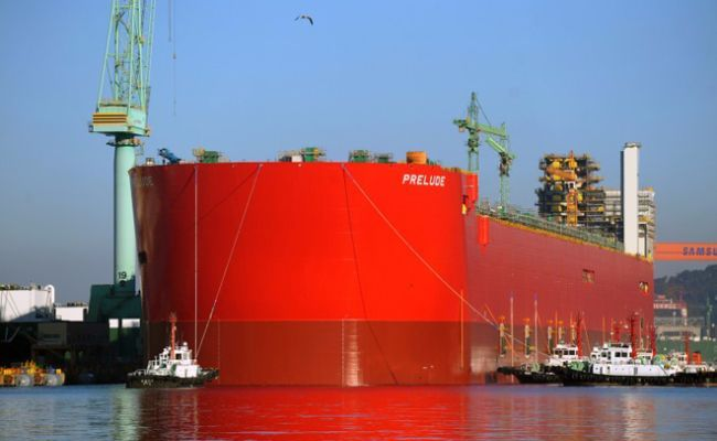The Prelude FLNG  is a stunningly large piece of engineering which cost between an estimated $10.8-12.6 billion to construct. It's the world's largest offshore facility ever constructed and also became the first liquefied natural gas platform ever.
