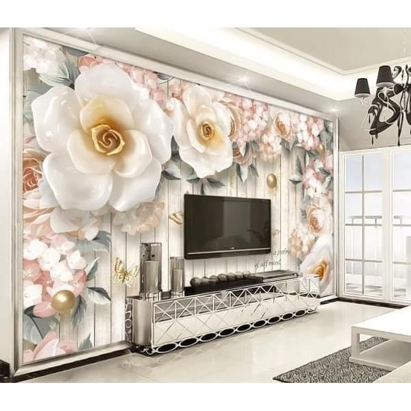 Jess Art Decoration 3d European Style Rose Relief Wall Mural Wallpaper 486 In 2021 Wallpaper Living Room Mural Wallpaper Wall Murals