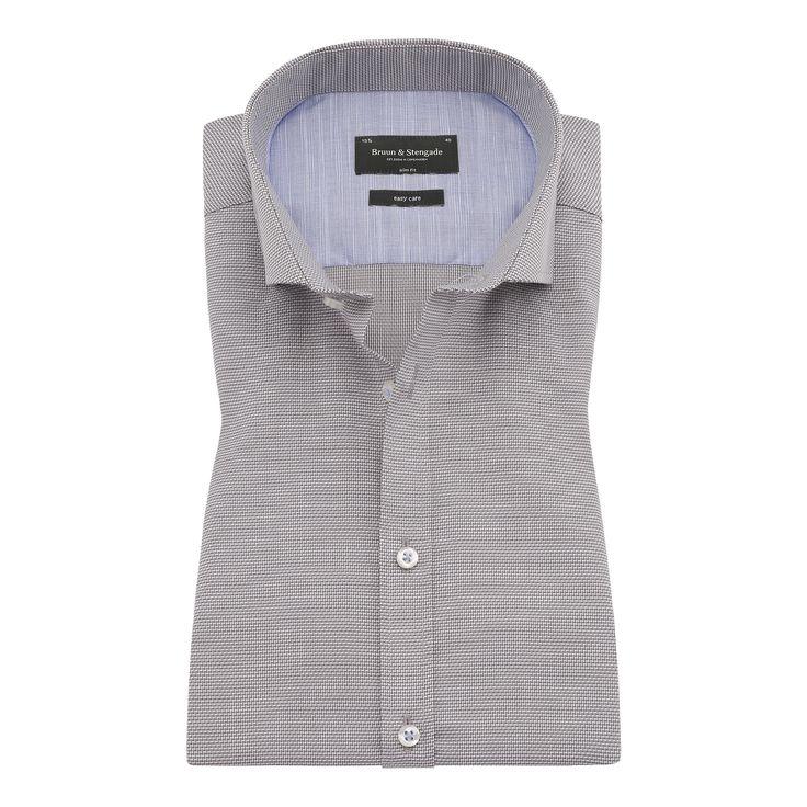 Bruun & Stengade Ede Micro Woven Houndstooth Shirt