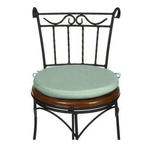 home decorators collection mist sunbrella round outdoor chair cushion 1572710340 at the home depot - Home Decorators Outdoor Cushions