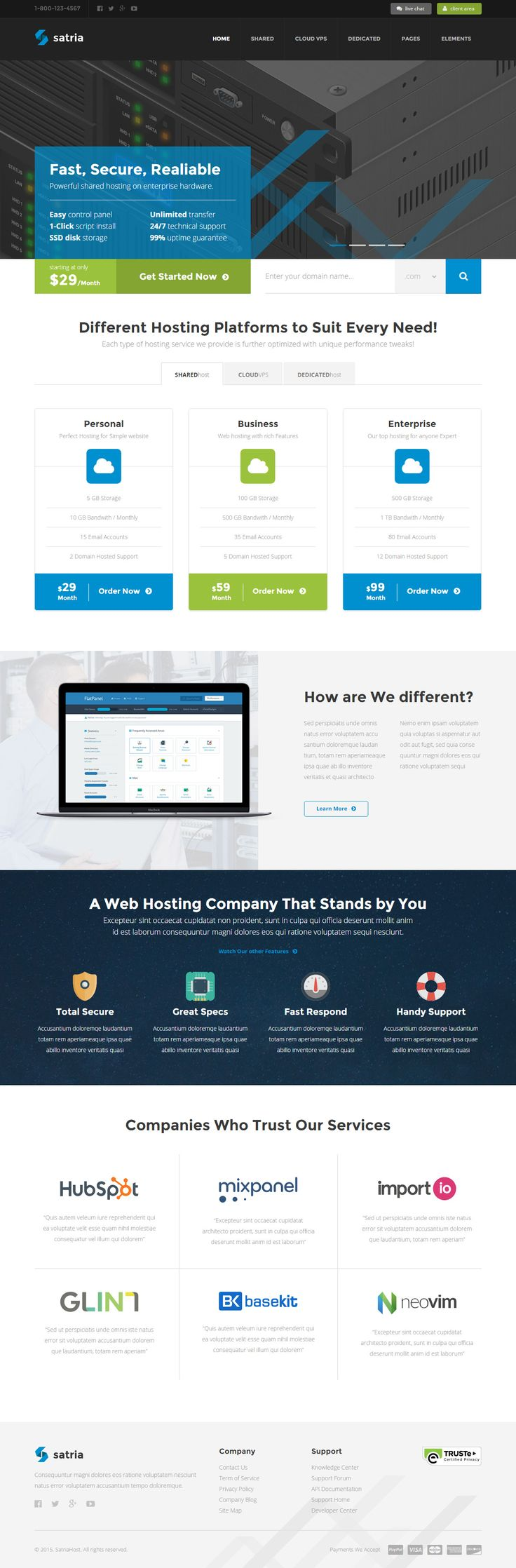 Satria is Premium full Responsive #HTML5 #Hosting #Template. Retina Ready. Minimal Design. Mega Menu. Contact Form. CSS files. Test free demo at: http://www.responsivemiracle.com/cms/satria-premium-responsive-professional-hosting-html5-template/