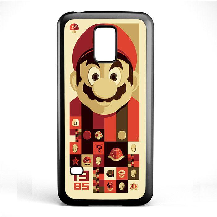Mario Bross Old Game TATUM-6889 Samsung Phonecase Cover Samsung Galaxy S3 Mini Galaxy S4 Mini Galaxy S5 Mini