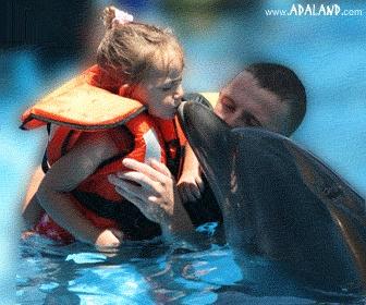 this summer kiss a dolphin in Kusadasi-TURKEY
