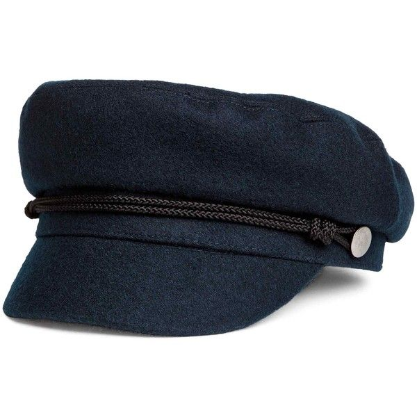 Sailor cap ($37) ❤ liked on Polyvore featuring accessories, hats, felted wool hat, sailor cap, sailor hat, cord cap and cap hats