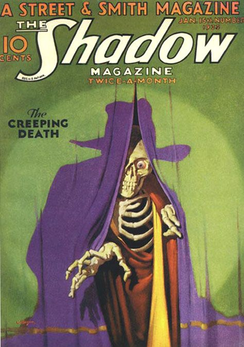 Pulp artist George Jerome Rozen (b. October 16, 1895) -- The Shadow's most renowned cover artist, replacing his twin brother, Jerome.