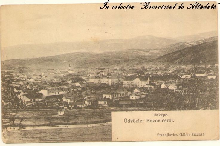 Bozoviciul de altadata, privire de ansamblu. Carte postala (aflata in colectia proprie) circulata in 1913. #descoperabozovici (Bozovici. old postcards. vintage postcards)