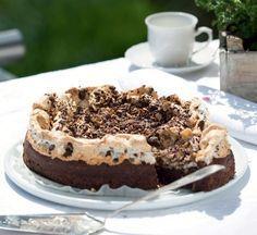 Chokoladekage med marengs